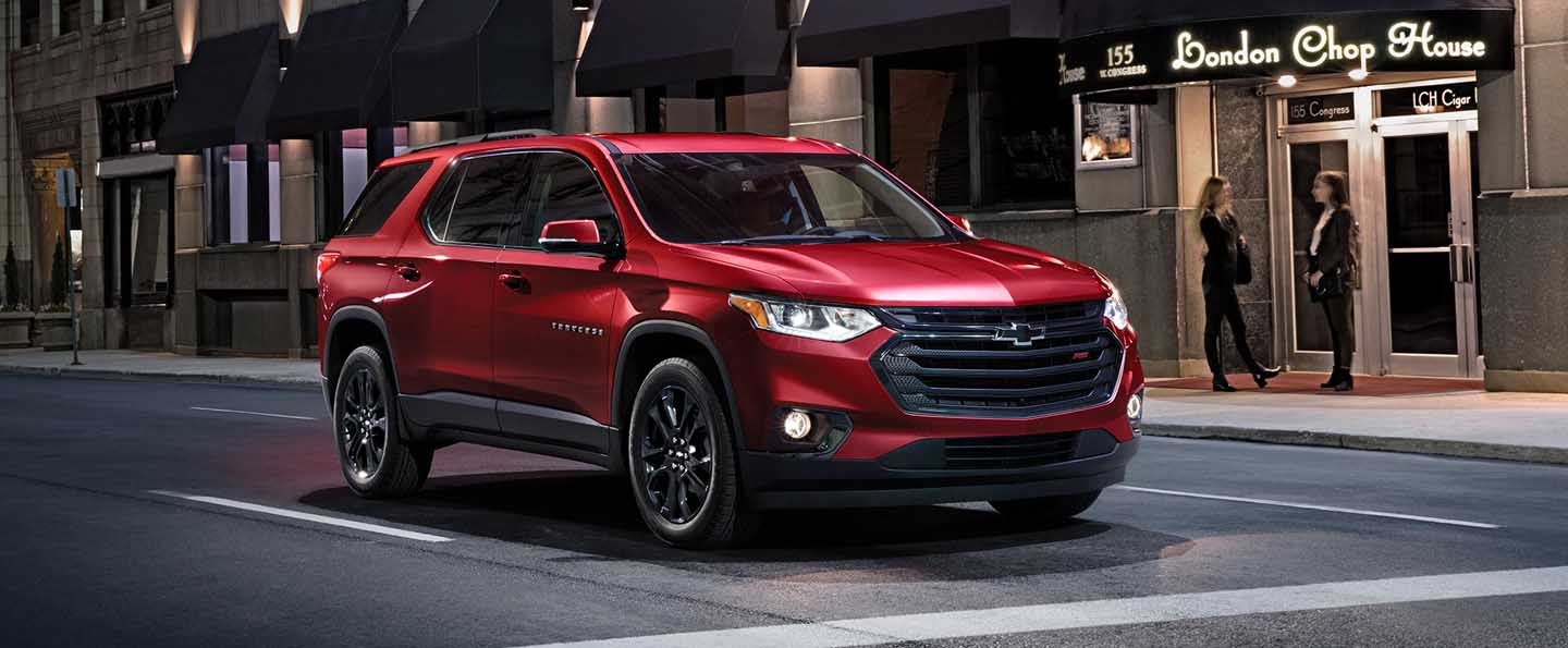 2021 chevy traverse high country specs features near me
