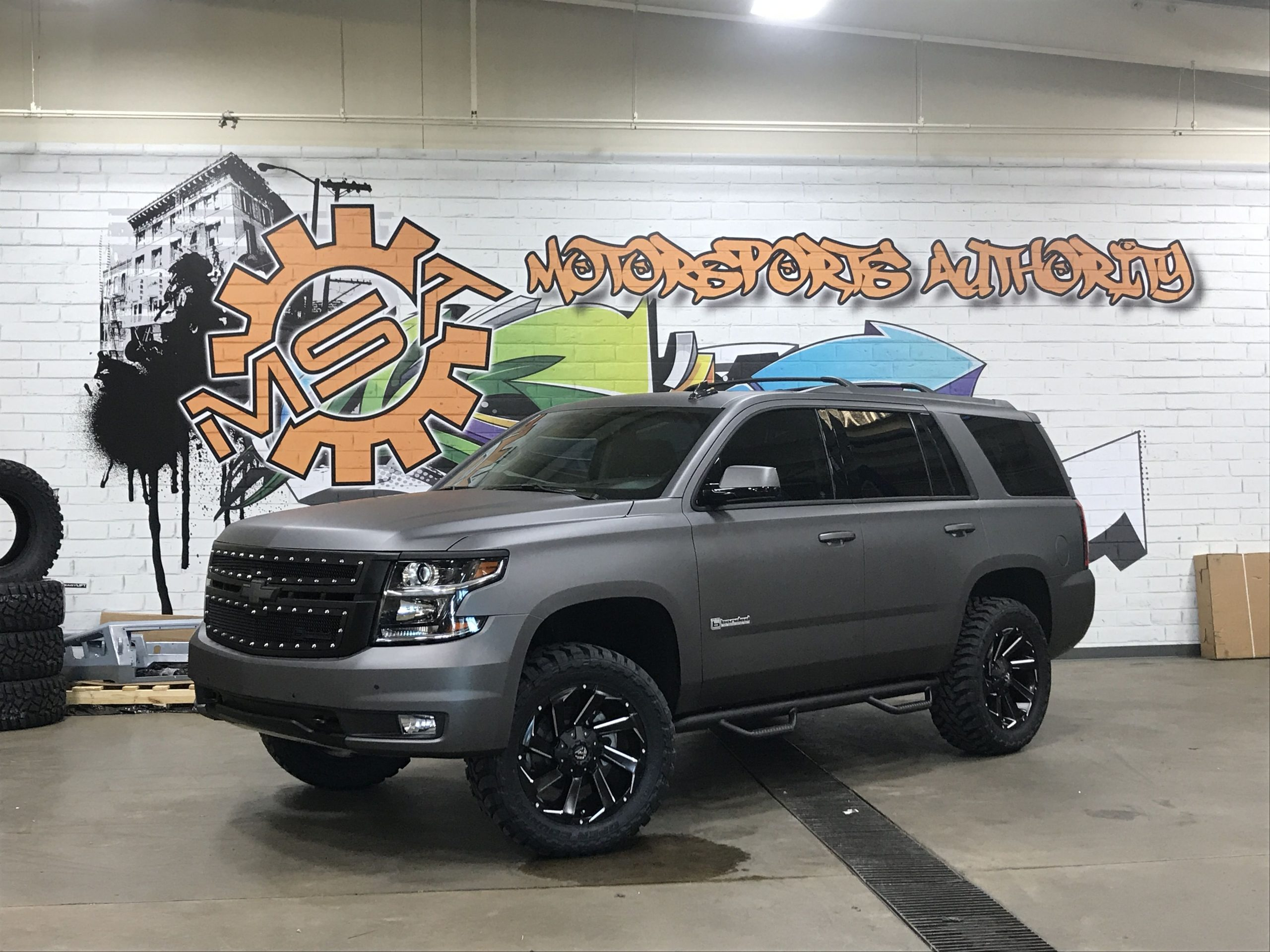 2017 Tahoe Wrapped In Avery Charcoal For Andrew Cashner 2022 Chevy Tahoe Cost, Images, Accessories